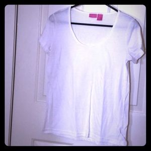 White boat neck t-shirt